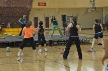 trening na sali gimnastycznej
