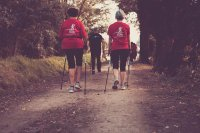 spacer z kijkami Nordic Walking